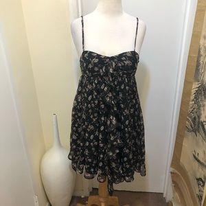 Steve Madden Black summer Floral dress medium